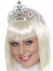 Wings & Wishes Silver Jewelled Flower Tiara